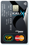 Kalixa contactless prepaid MasterCard