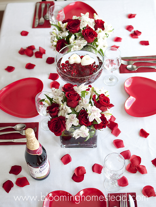 valentine 39 s tablescape blooming homestead