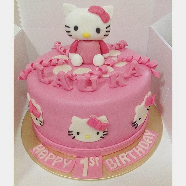 Sherbakes Pink Hello Kitty Cake
