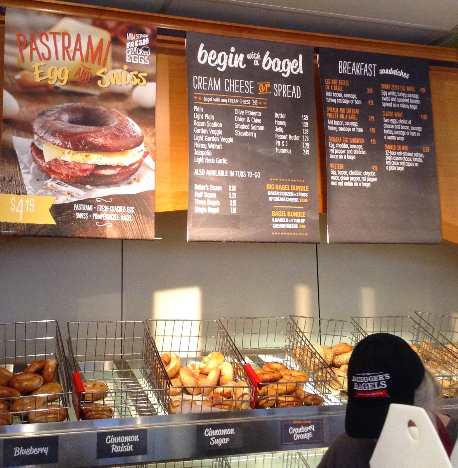 New lunch menu at @Brueggers #ad