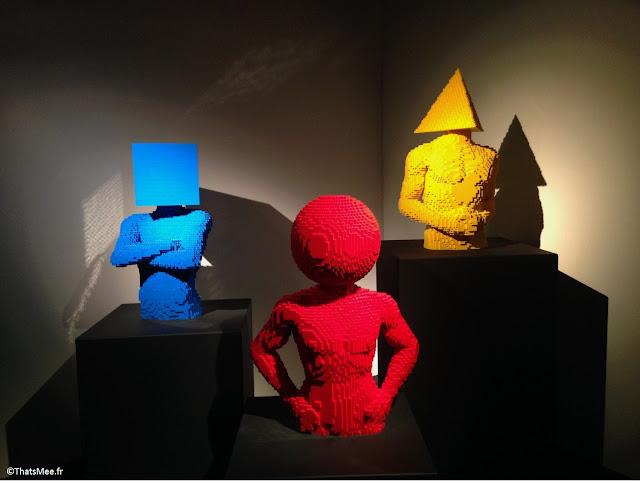 buste géométriques par Nathan Sawaya The Art of brick expo Lego à Paris