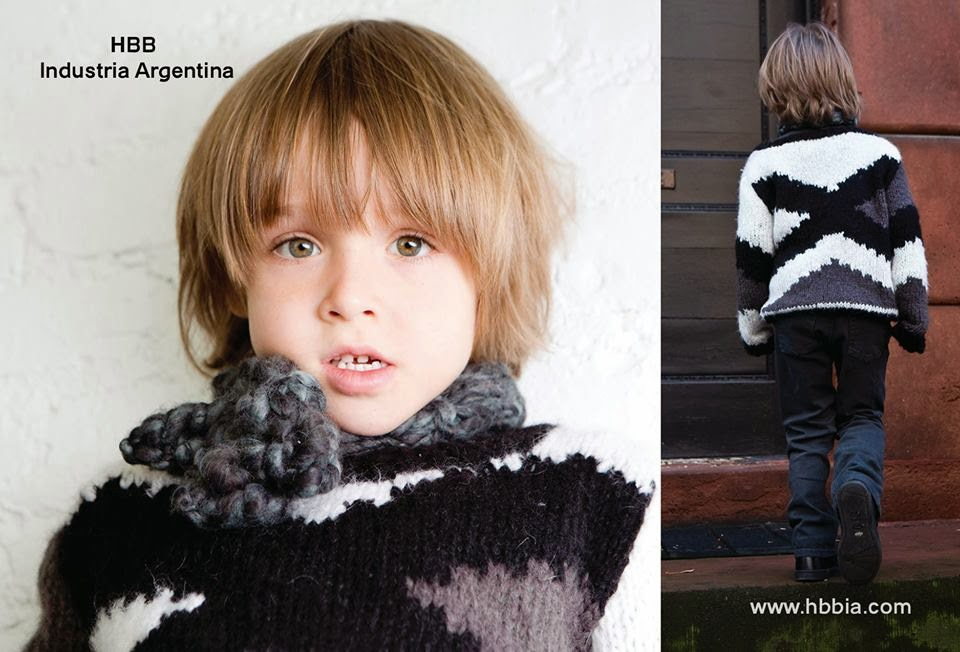 Chunky knits by HBB Industria Argentina for children's fashion collection autumn 2014