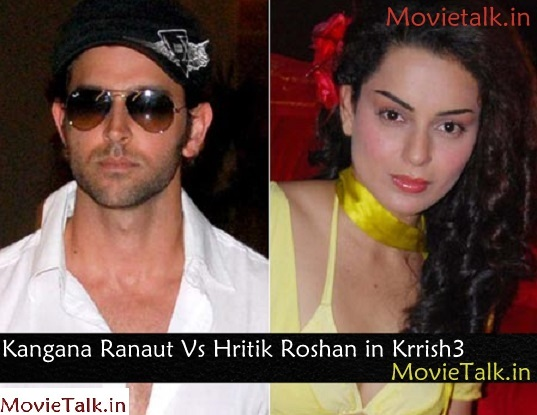 Kangana Ranaut Vs Hritik Roshan in Krish3