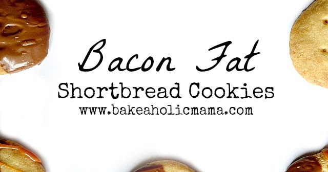 Bakeaholic Mama: Brown Butter & Bacon Fat Shortbread Cookies