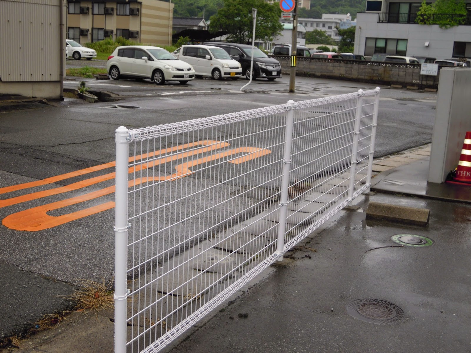 マンション 駐車場フェンス工事 島根県浜田市