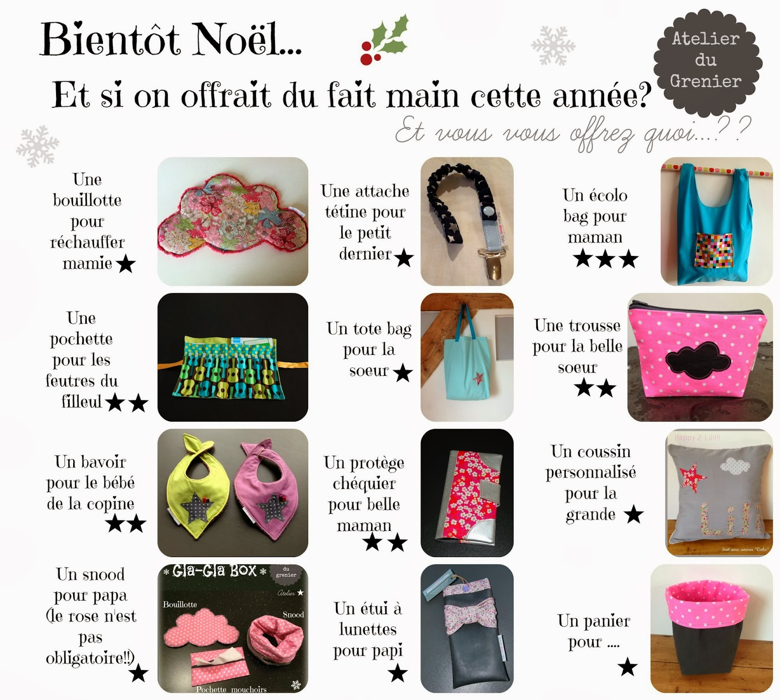 Idee Cadeau Noel Fait Main Interesting Fabulous Ide