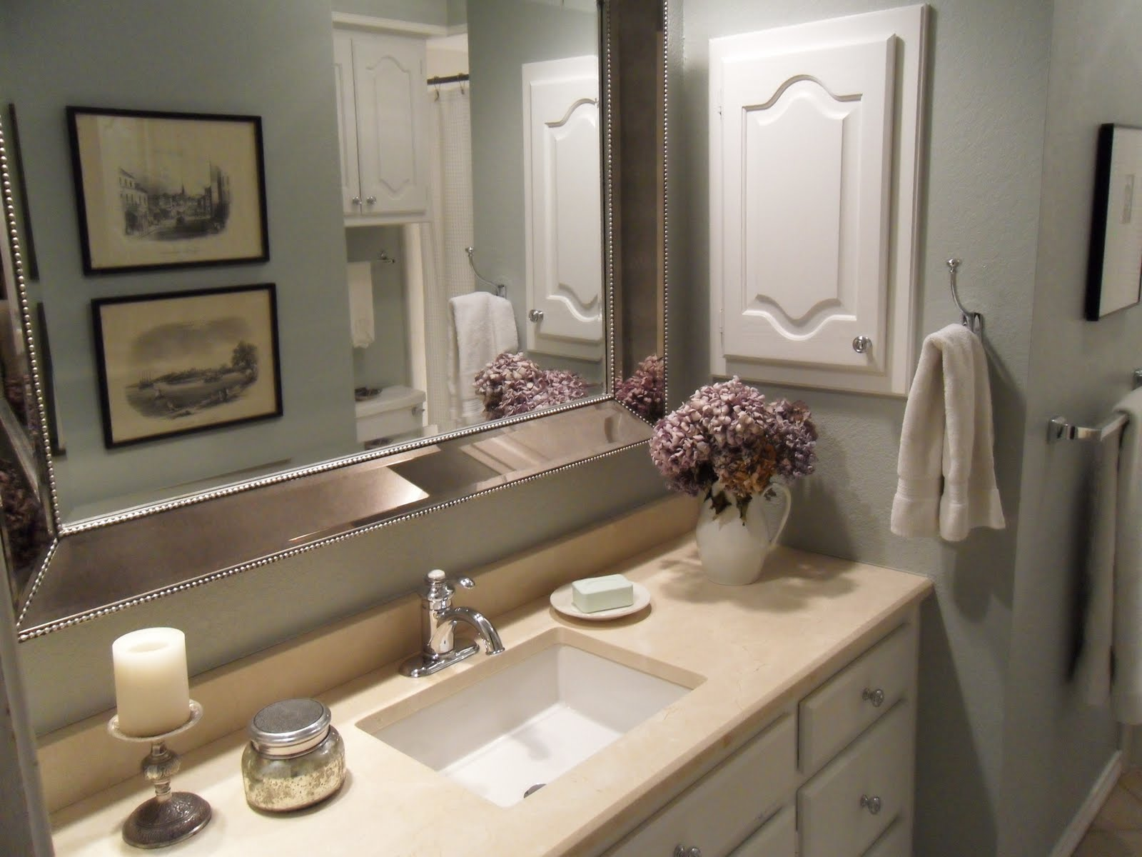 Tattered style bathroom makeover before and after for Bathroom makeover ideas