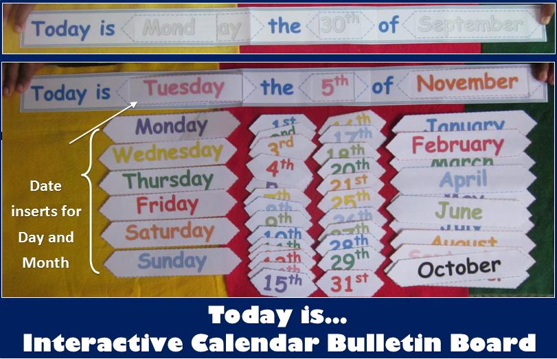 Diy Calendar Bulletin Board : Nyla s crafty teaching back to school interactive
