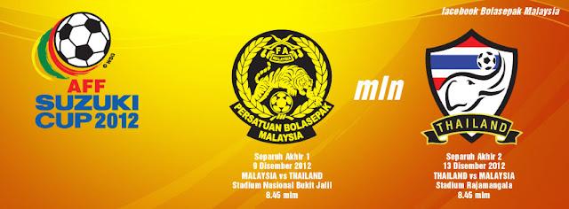 Keputusan Malaysia vs Thailand 9 Diember 2012 - Separuh Akhir Pertama Piala AFF Suzuki 2012