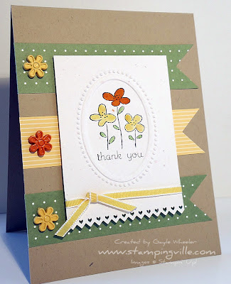 Stampin' Up! Easy Events stamp set Thank You Card