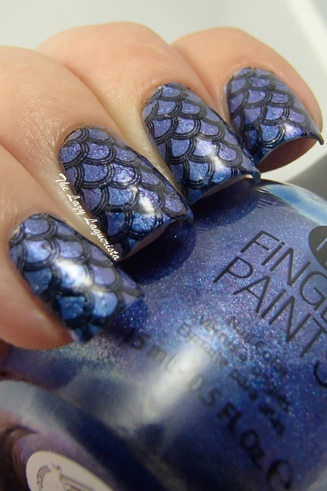 Fish Scales Nail Art