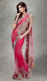 Party-Wear-Saree-with-Attractive-Embroidery