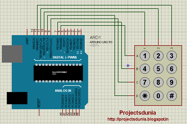 projectsdunia circuit design simple circuit diagram of keypad interfacing arduino