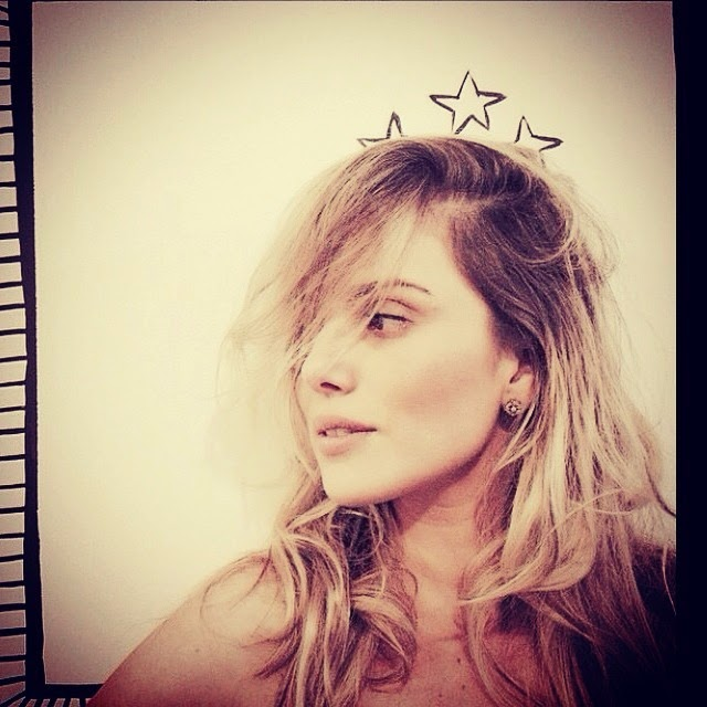 Natállia Rodrigues foi fotografada durante um dia de beleza no salão de Marco Antonio di Biaggi, no bairro do Jardins, em São Paulo,