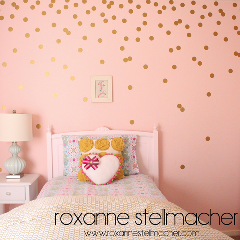 Cute  little confetti circles out of notebook or construction paper as a kid and throwing them in the air Now you can have your very own wall confetti with