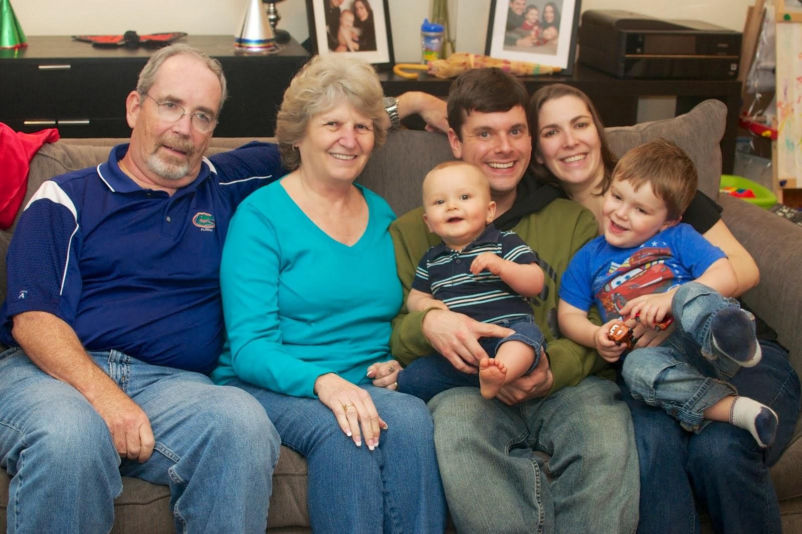 Grandpa, Nanny, the kids & grandkids