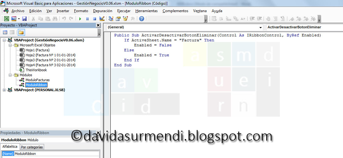 Accedemos al Editor de Visual Basic.