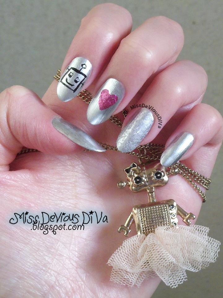 #31DC2014 - Day 8: Metallic Nails