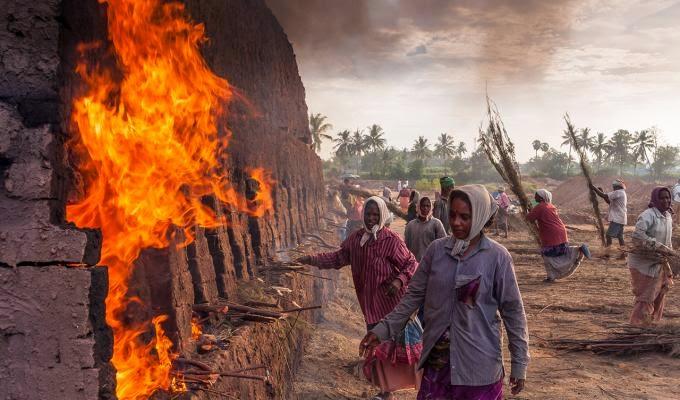 CIOB, The Art of Building 2014, Near to fire for bricks, by Rajaram