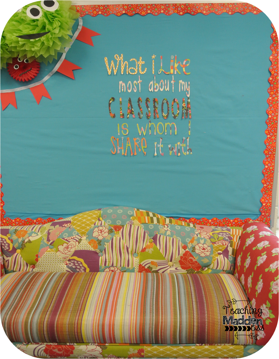 cricut in my classroom classroom decor giveaway teaching once i saw this quote i knew i wanted to use it in my classroom and i thought this bulletin board was the perfect location again i used scrapbook paper