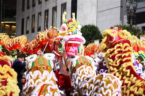 Crowded Chinese New Year Street Festival In San Francisco