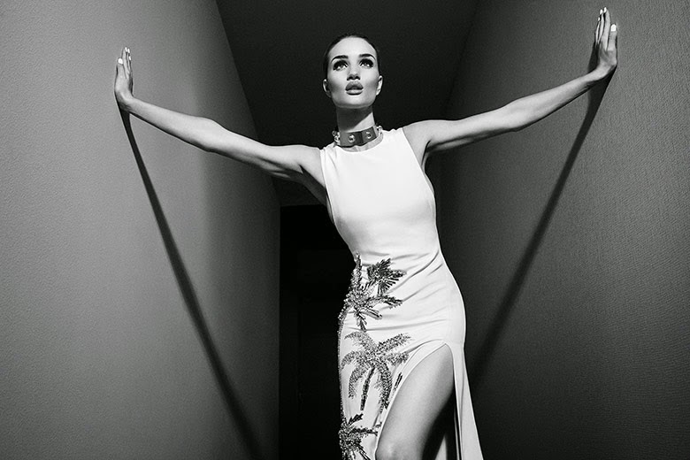 Rosie Huntington-Whiteley photographed by Emma Summerton for Violet Grey June 2014 issue - old school Hollywood glamour