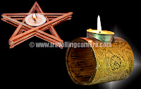 Of course the earthern diyas a still used, but mostly for prayers and for the sake of keeping the traditions alive.