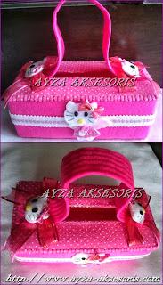 Kotak Tissue Hias - Tema Hello Kitty Model Tas - Ayza Aksesoris