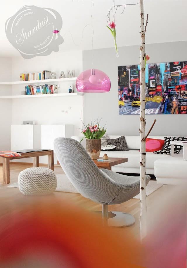 Kartell Fly Pink Pendant Light Moderndesigninterior Com