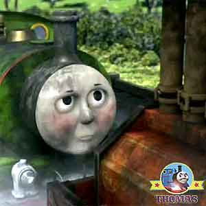 Thomas tank friends Percy and Diesel the train tracks Thomas tram Toby whistling woods railway line