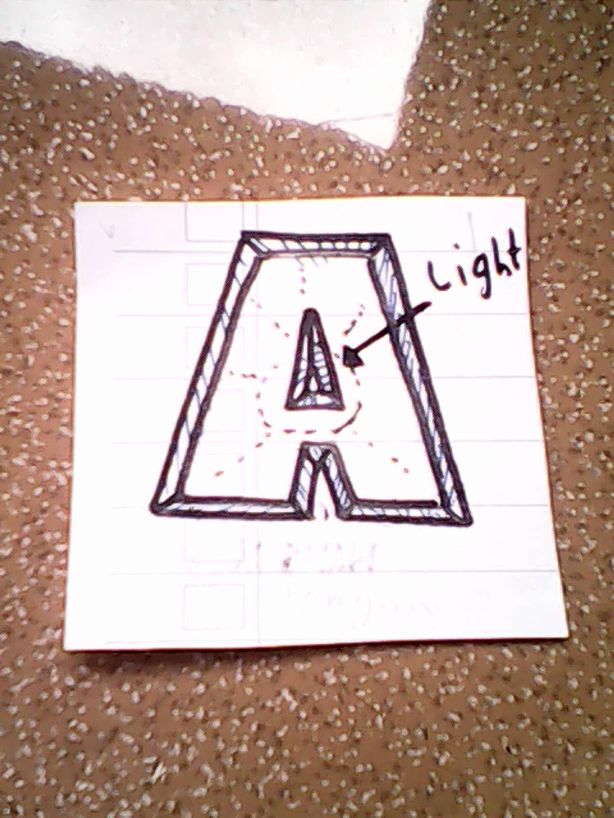 Cahaya dari samping kanan bawah