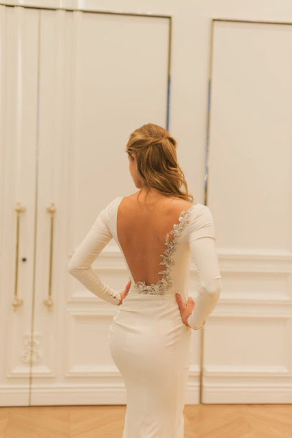Bridal Fashion Week New York City 2015 Anne Barge Highly Embellished Back Wedding Gown Weddings