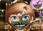 Frozen Anna Halloween Face Art