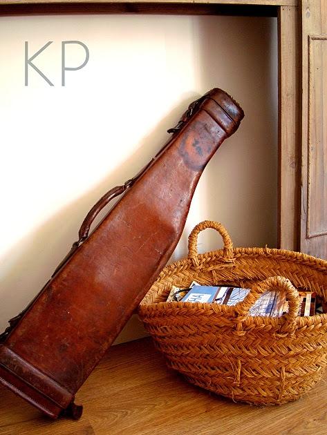 maleta de cuero vintage funda de escopeta antigua