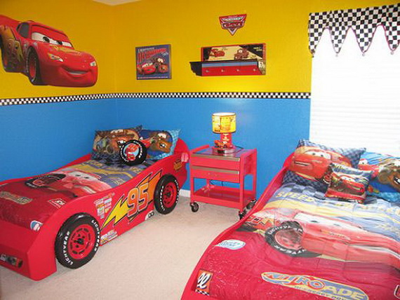 Dormitorios infantiles modernos dormitorios para ni os for Disney car bedroom ideas