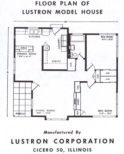 Instant house the lustron house Home layout planner
