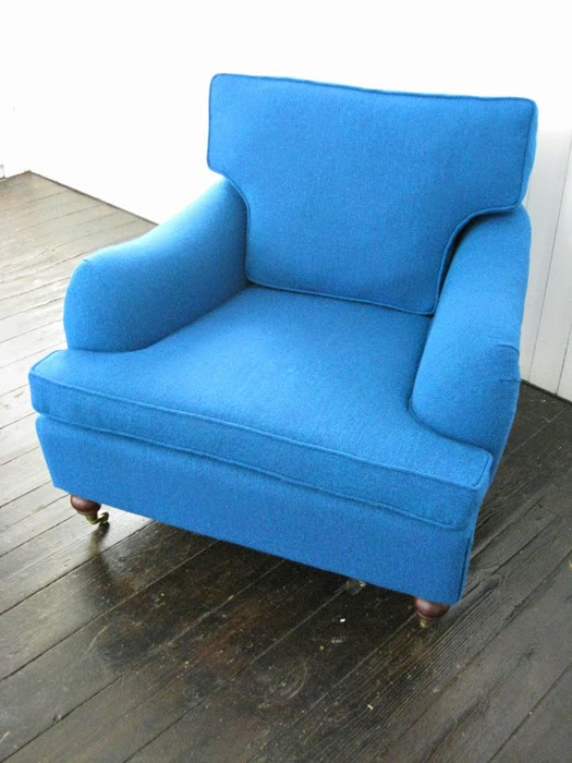 Mick Sheridan Upholstery Armchair And Ottoman In Bute Tweed
