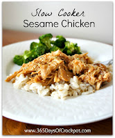 Recipe for Slow Cooker Sesame Chicken #crockpot