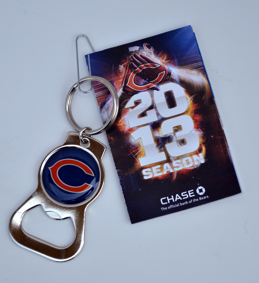 Nothing gets more Chicago than this Bears beer opener and pocket schedule.