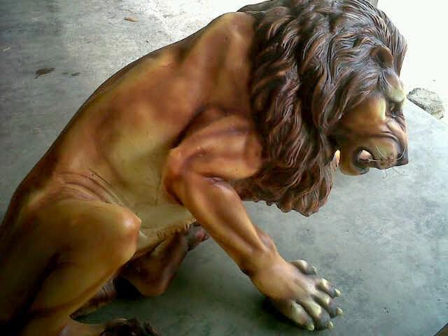 patung singa taman grc