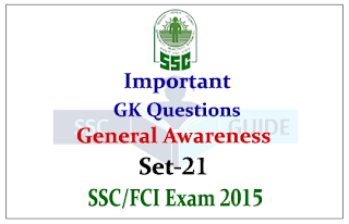 Important General Awareness Questions and Answer-SSC Exams