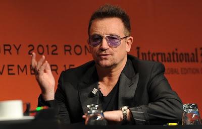 Bono, do U2, agradece o papel da Igreja Católica na luta contra a pobreza