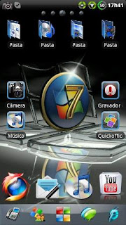 Theme Windows 7 GO Launcher EX for Android .apk