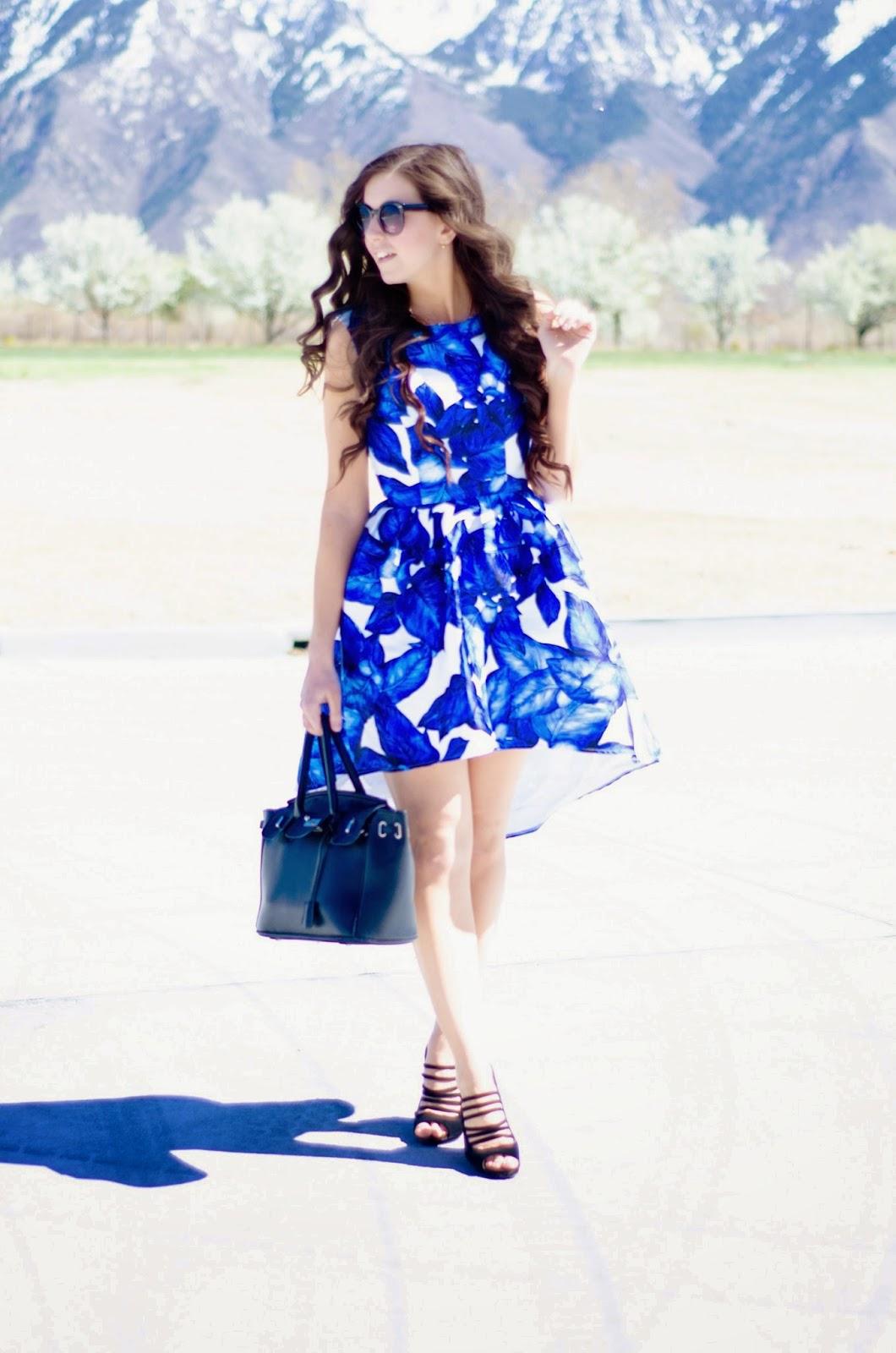 blue floral dress, blue floral high low dress, chi chi london dresses, chi chi clothing, chi chi london, blue dress, high low dress, summer dress, perfect summer dress,