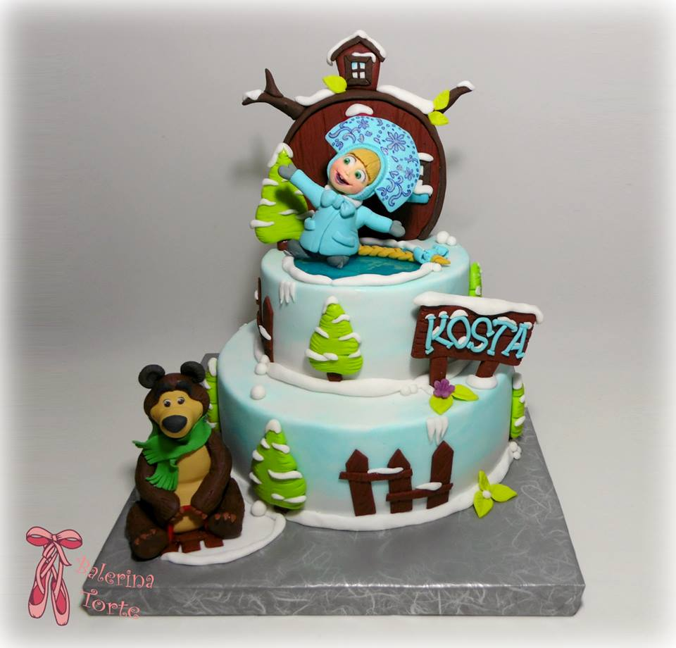 Masha and the Bear Cake Masa i meda torta Deije torte