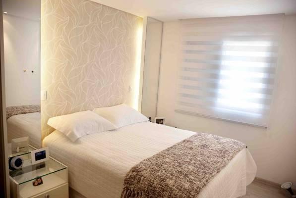 decoracao de apartamentos pequenos quarto casal:Apê novo com dez mil: O nosso quarto de casal, espelhos, sim, sim!