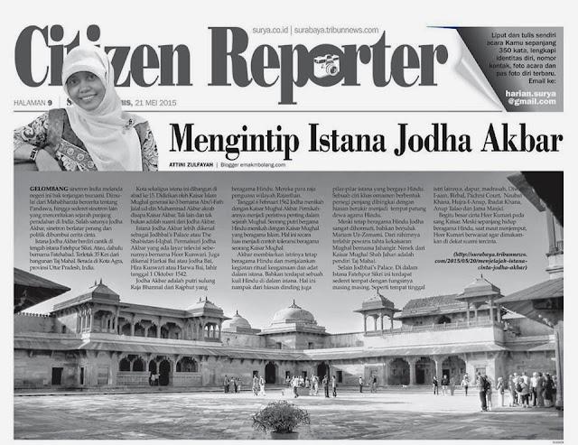 Tulisan Perjalanan dimuat di Koran