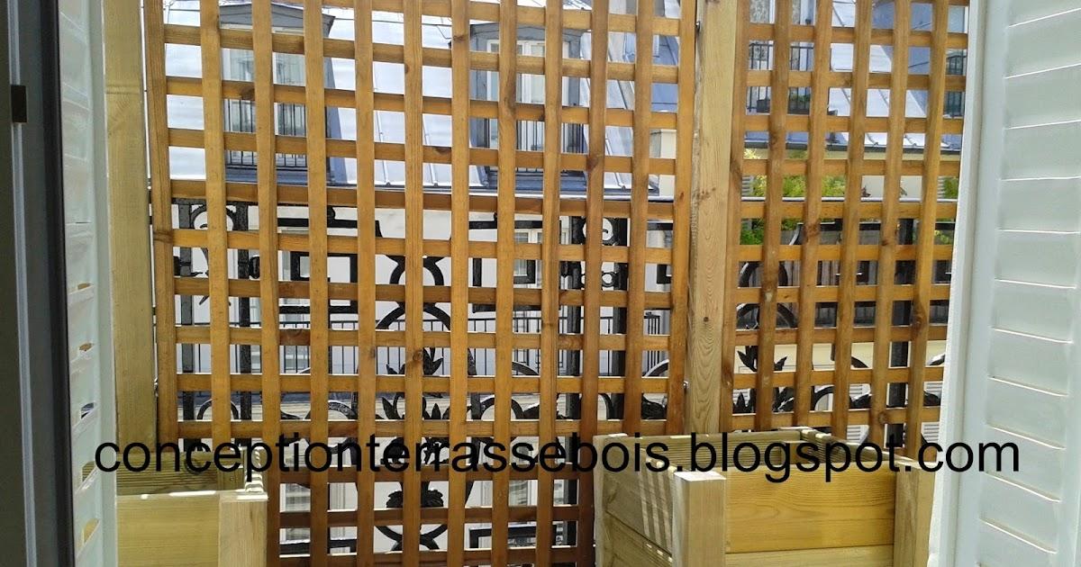 Une Terrasse En Bois Brise Vue En Bois Pour Balcon Ou Terrasse   Terrasse  En Bois