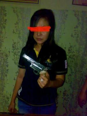 Janda Tertangkap Simpan Pistol Rakitan
