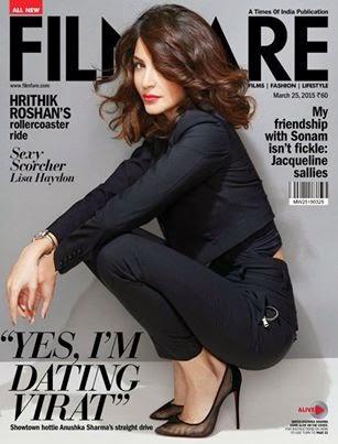 Anushka Sharma on cover page of Filmfare India Magazine March 2015